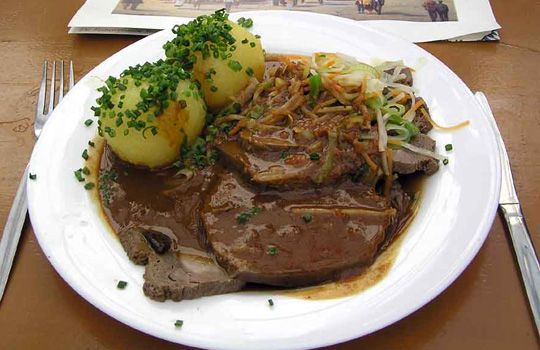 If you love German food like me...this recipe will not disappoint!  Alton Brown's sauerbraten recipe is fabulous!