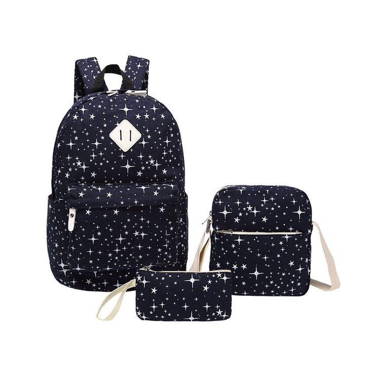 Inwagui Modische Schulrucksack Canvas Schultaschen Damen Mädchen EXTRA Groß Kinderrucksack Daypacks Rucksäcke-Grey: Amazon.de: Koffer, Rucksäcke & Taschen