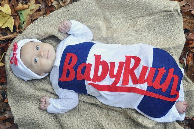 Baby Ruth Candy Bar! So adorable! http://www.ivillage.com/easy-homemade-costume-ideas/6-b-139777#491983