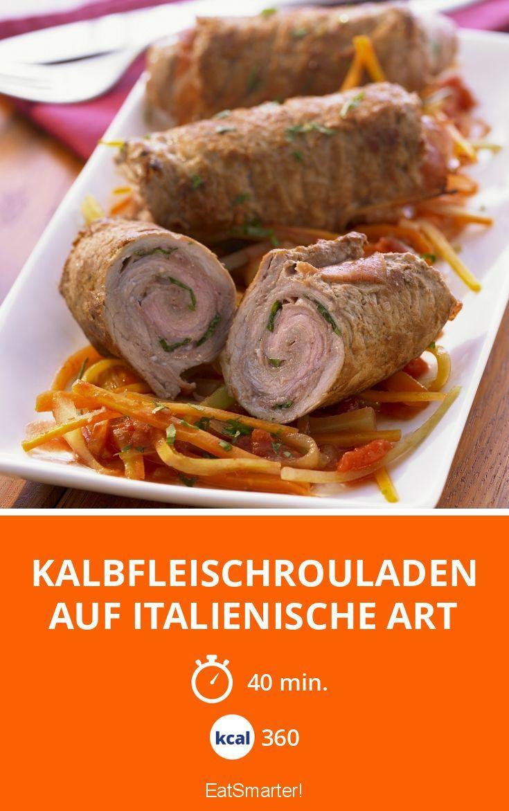 Kalbfleischrouladen auf italienische Art - smarter - Kalorien: 360 Kcal - Zeit: 40 Min. | eatsmarter.de