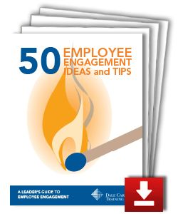 Dale Carnegie Training has identified 50 #employeeengagement ideas that will help #organizations and #leaders build a culture of engagement.