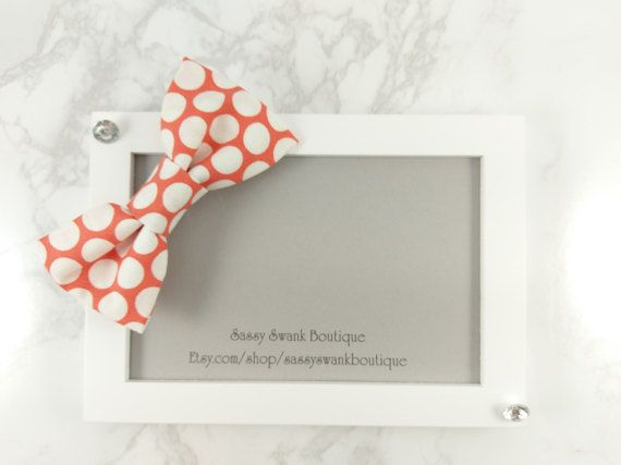 Polka Dot Clip On Bow Tie  Baby Clip On Bow by SassySwankBoutique