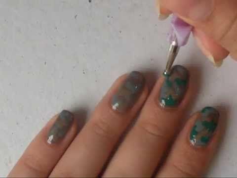 Army nail art