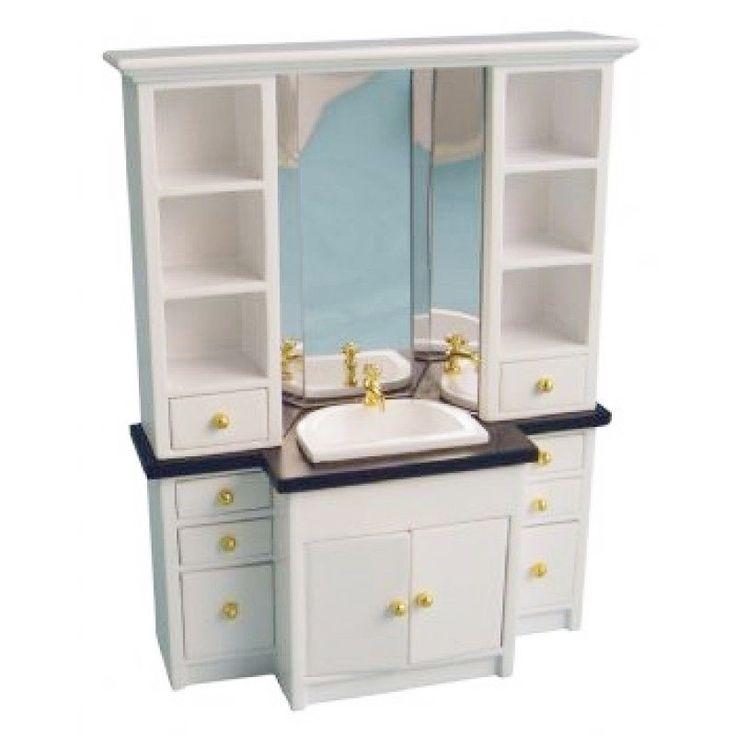 Ber ideen zu puppenhaus pl ne auf pinterest puppenh user m dchen in den usa und - Badezimmerschrank mit waschbecken ...