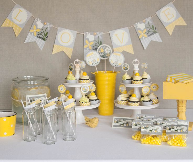 Yellow #bridal #shower