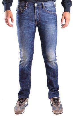Stone Island Men's Blue Cotton Jeans.
