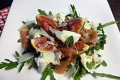 Rucolasalat mit Feigen, Mozzarella, Parmesan, ein beliebtes Rezept aus der Kategorie Eier & Käse. Bewertungen: 226. Durchschnitt: Ø 4,7.