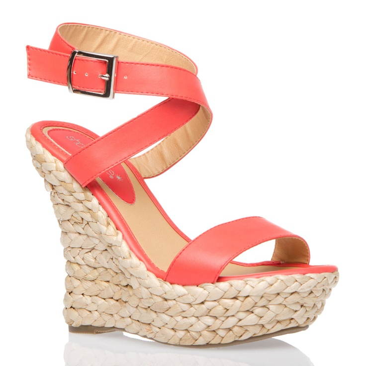 ZolaBigger Closets, Fabulous Shoes, Fashion Style, Accessories Coral, Classy Coral, Personalized Style, Coral Wedges, Shoes Closets, Coral Sandals