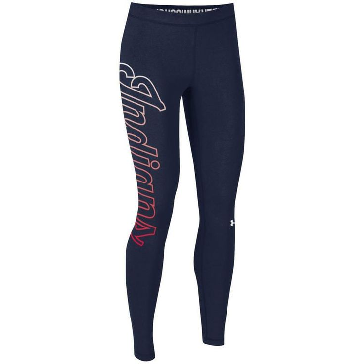 Cleveland Indians Under Armour Women's Limitless Logo Leggings - Navy