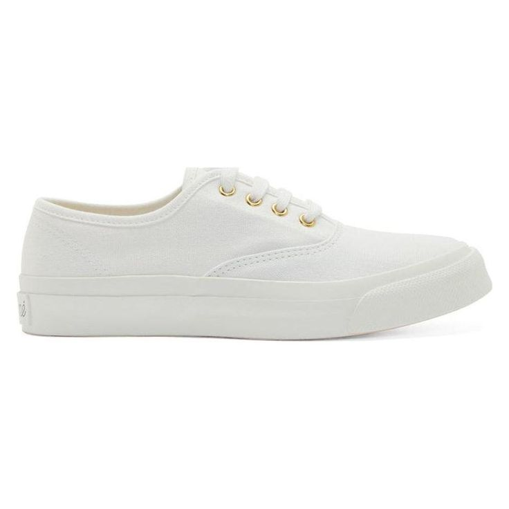 Maison Kitsuné Women's White Canvas Low-Top Sneakers – Egogosports