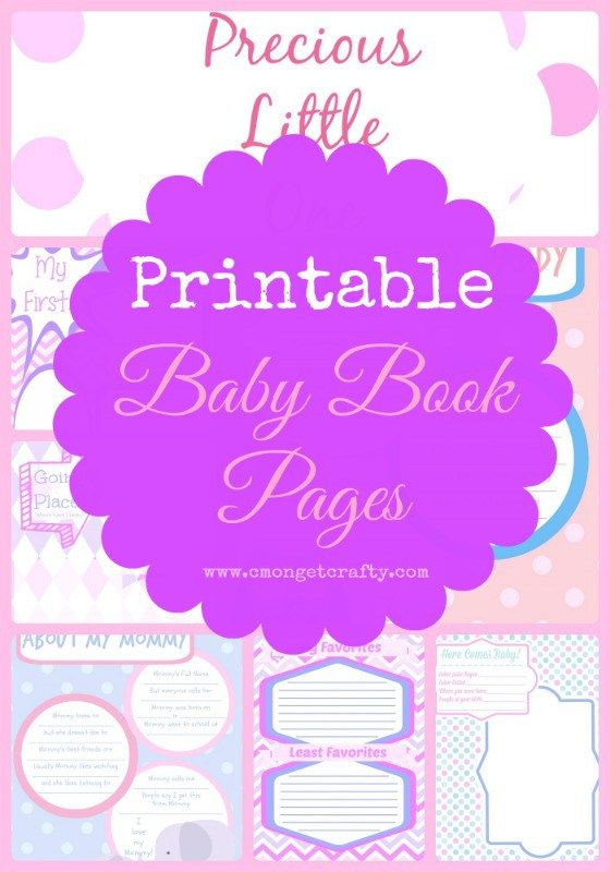 The female version of my popular printable baby book pages!                                                                                                                                                                                 More