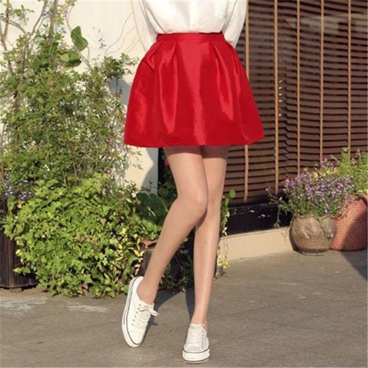 Resultado de imagen para falda de raso corta