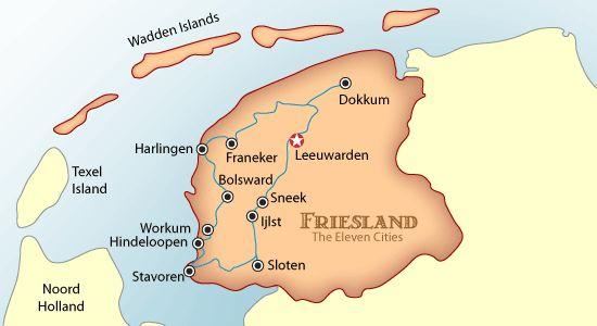 friesland map