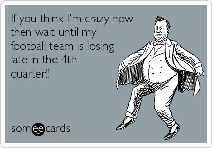 Oh wait, my team is usually losing in the first quarter! Lol. No need for comments from my Hokie peeps! :)