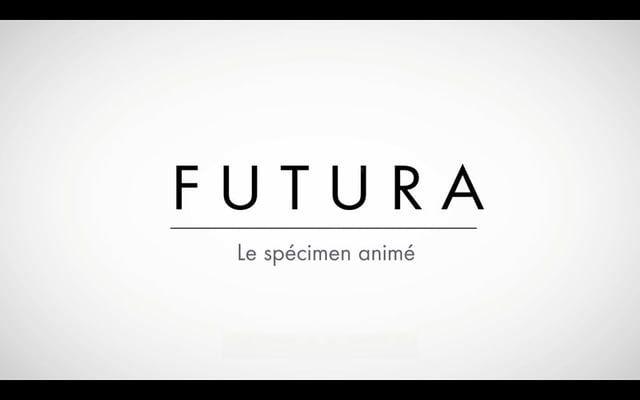 Futura un specimen anime. Presentation d'une typographie mythique.   Graphic Design & Animation Thibault de Fournas  -  twitter.com/TdeFournas Christopher van Wilson  -  http://vanwilson.co.uk/  Musique: Introduction to smooth - smooth