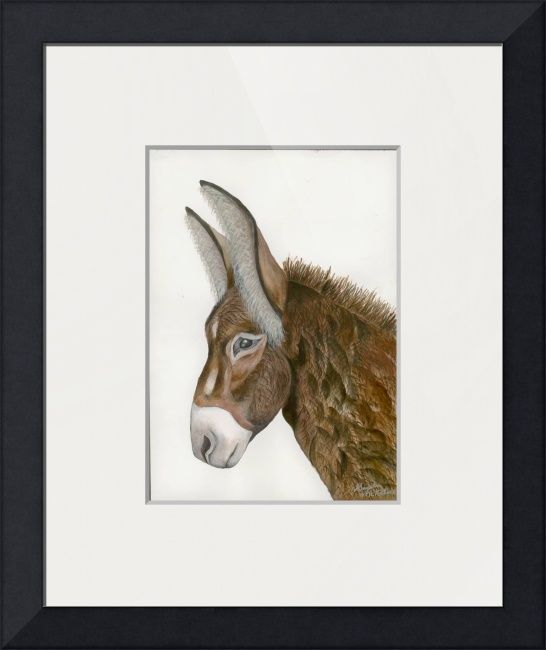 """""""Jacquie""""+by+Gayela+Chapman,+Peoria,+AZ+//+Jacquie--Dark+Brown+Chocolate+Donkey+Fine+art+painting+by+Gayela+Chapman-McKelvie,+Gayela's+Premiere.++Beautiful+dark+brown+chocolate+donkey+named+Jacquie.+//+Imagekind.com+--+Buy+stunning+fine+art+prints,+framed+prints+and+canvas+prints+directly+from+independent+working+artists+and+photographers."""