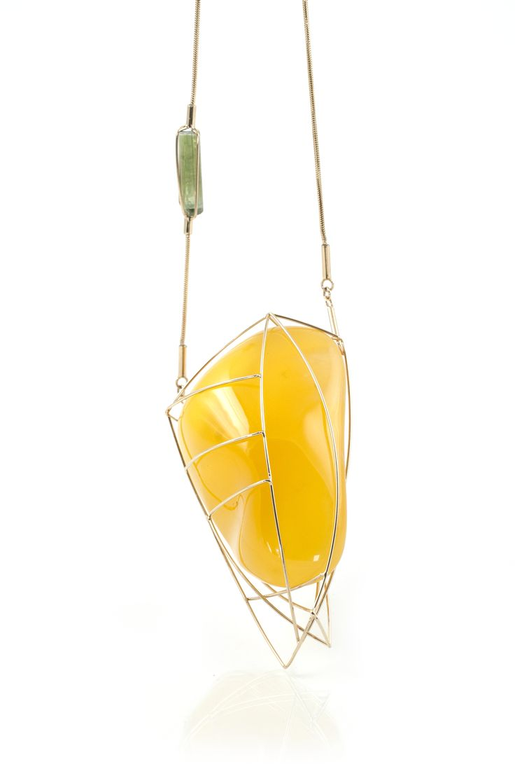GEOAmber Neckless Authentic Polish Amber. 14K Gold.