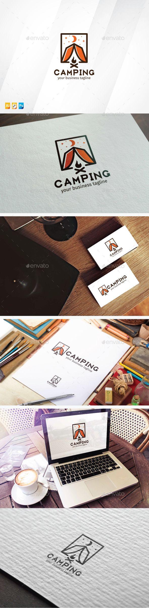 Camping Logo Template #design #logotype Download: http://graphicriver.net/item/camping/13721303?ref=ksioks