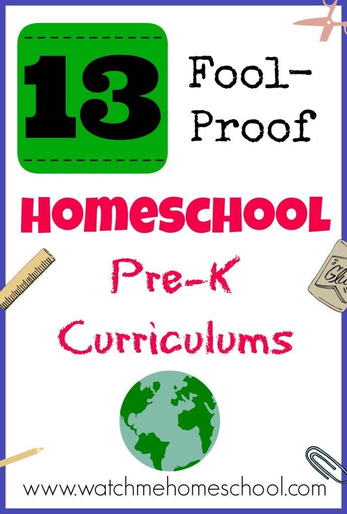 pre-k homeschool curriculum http://watchmehomeschool.com/12-fool-proof-homeschool-pre-k-curriculums/