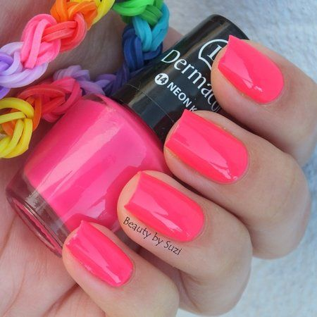 Dermacol Neon Rainbow, 14 Neon Kiss #nailart #nails #polish #mani - Share/explore more nail looks at bellashoot.com!