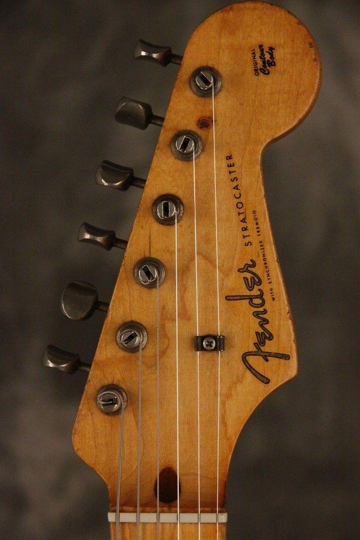 Original 1959 Fender Stratocaster Sunburst W Maple Neck Ebay Fender Stratocaster Fender Stratocaster Sunburst Sunburst