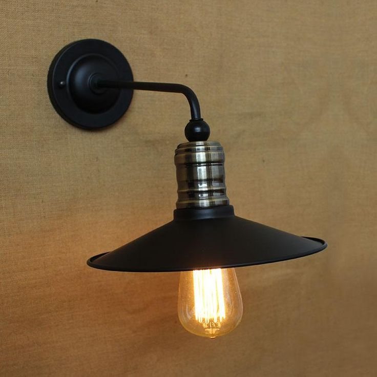 Christmas Lights Christmas Gifts Black Metal Lampshade Wall Lamp E27 Retro Nostalgic American Uk Aisle Dining Room Bedroom Lighting From Dpgkevinfan, $76.97 | Dhgate.Com