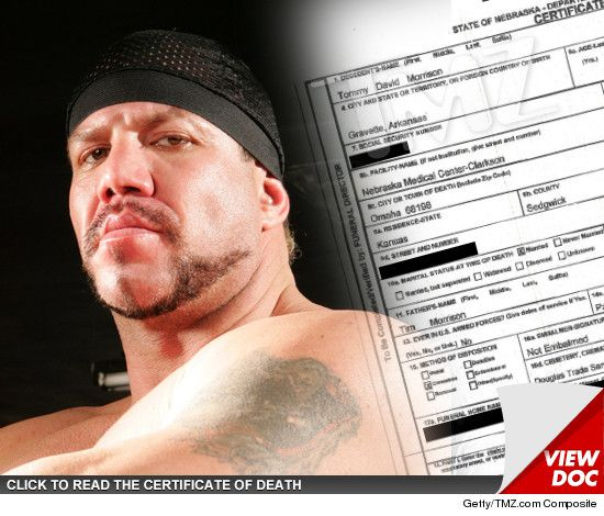 TOMMY MORRISON  DEATH CERTIFICATE  No Mention Of AIDS