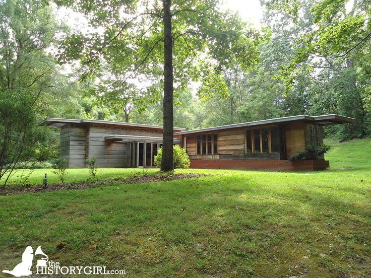 The Pope-Leighey House, designed by Frank Lloyd Wright and built in 1941 in Falls Church, VA for Loren and Charlotte Pope. The Popes sold it to Robert and Marjorie Leighey in 1946. In 1961, the house was condemned for the construction of Interstate 66. Ms. Leighey donated it to the National Trust for Historic Preservation in 1964. The home was dismantled, moved, and reconstructed at Woodlawn Plantation in Alexandria, VA where it opened in 1965. Discover more history @ www.thehistorygirl.com
