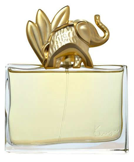 Kenzo Jungle L'Elephant Kenzo perfume. It opens with airy mandarin, fresh cardamom, cumin and clove. The heart unites ylang-ylang, licorice, mango and heliotrope, while the base wraps it all with patchouli, vanilla, amber and cashmere.