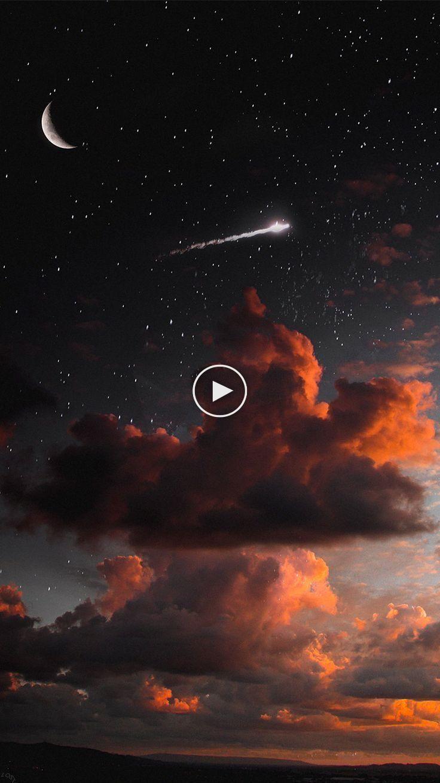 A Night Sky With Shooting Star Wallpaper Lockscreen In Lockscreen With Night Sky Wallpaper Night Skies Sky