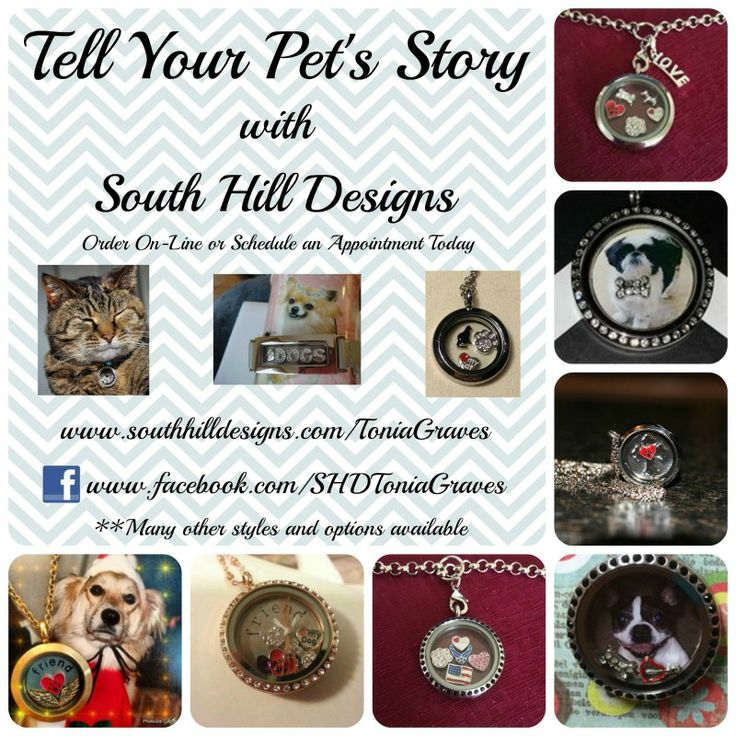 Tell your pets story with a South Hill Designs Locket