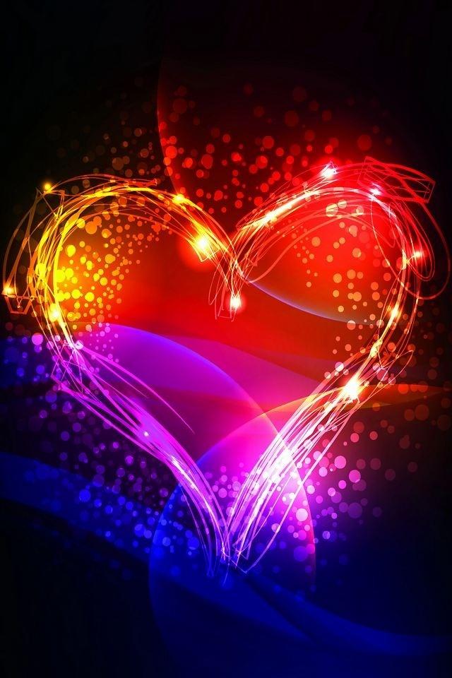 Colorful Heart | Love That PURPLE | Pinterest | Beautiful ...