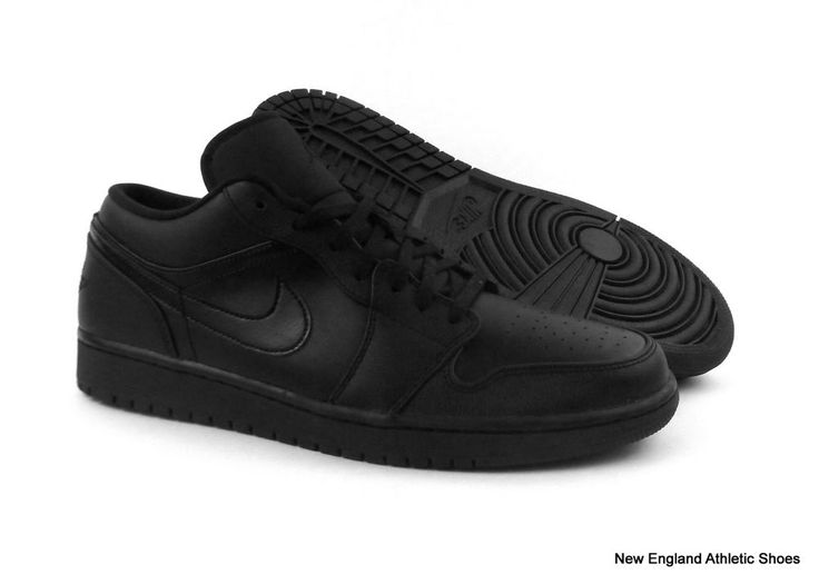 Nike men Air Jordan 1 Low basketball shoes sneakers size 12 - Black / Black #Nike #BasketballShoes