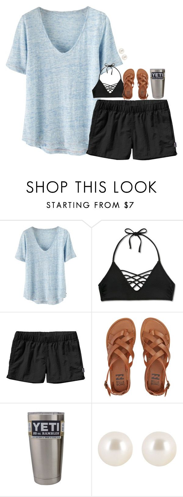 """""""beach☀️"""" by hmcdaniel01 ❤ liked on Polyvore featuring Wrap, Xhilaration, Patagonia, Billabong and Henri Bendel"""