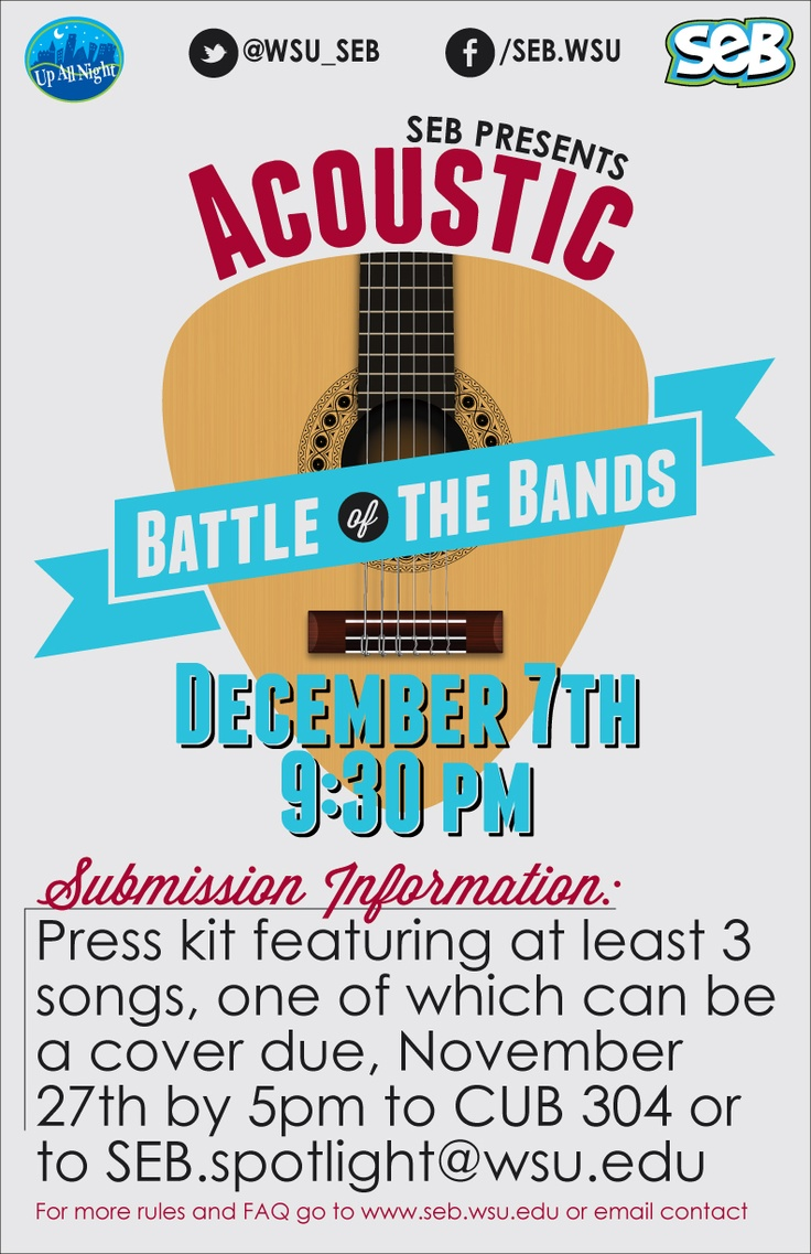 11x17 poster design - 11 X 17 Poster For Acoustic Battle Of The Bands Put On By Seb