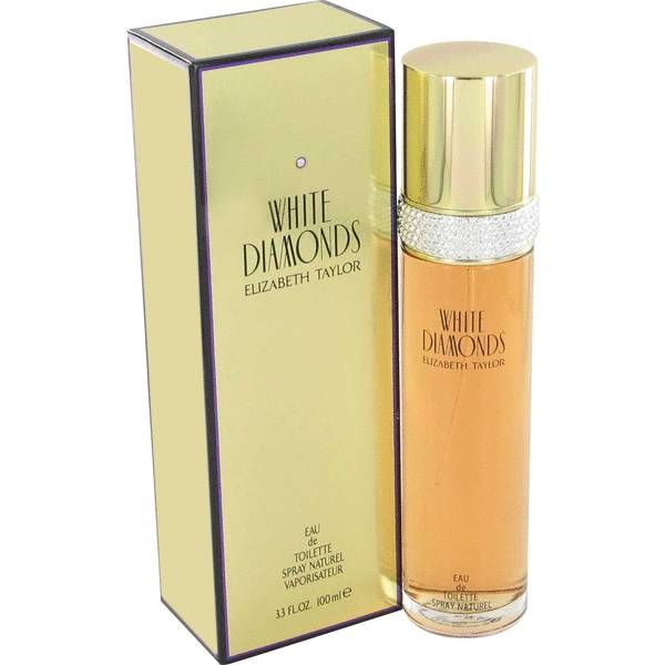 White Diamonds Perfume by Elizabeth Taylor, White diamonds once again shows her exceptional sense of style.this sophisticated floral has notes of italian neroli, living amazon lily, egyptian tuberose, turkish rose, italian orris, living narcissus, living jasmine, italian sandalwood, patchouli, amber, and oakmoss .