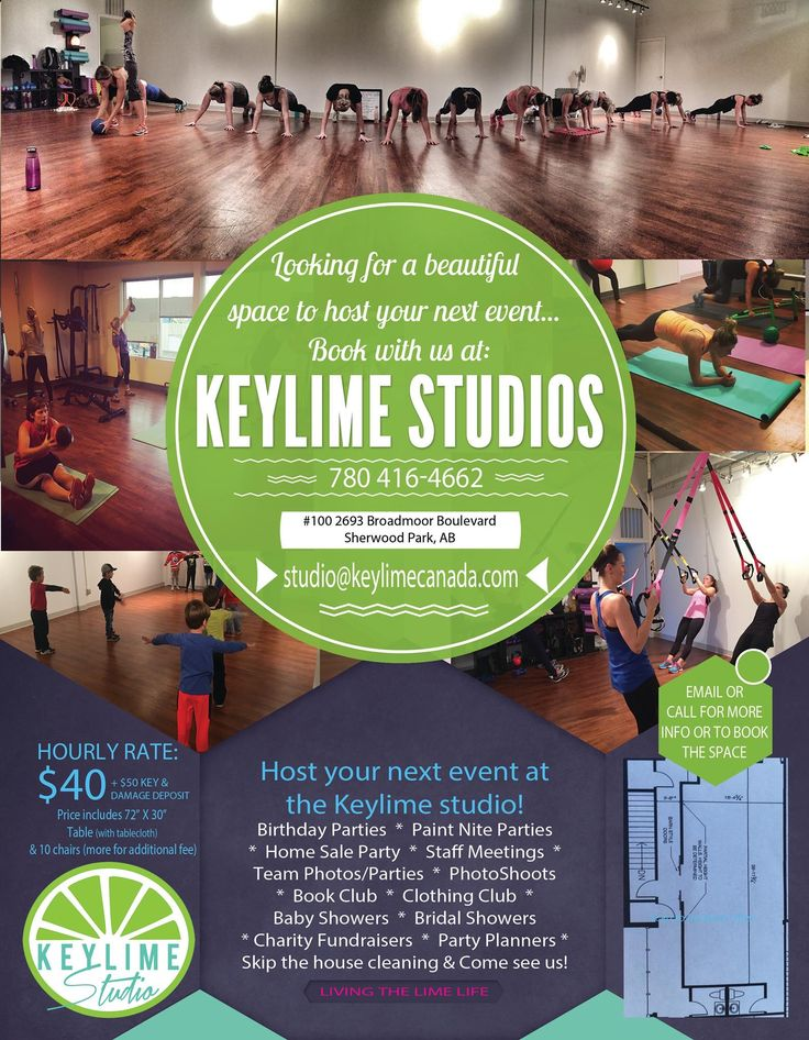 Studio space for rent  Keylime athletic wear in sherwood park is offer beautiful studio space for rent.  Party's, classes, workshops...
