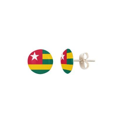 Togo Flag Earrings - jewelry jewellery unique special diy gift present
