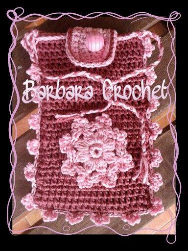 Idea regalo - Porta cellulare - Hand Made - crochet - Realizzato ad uncinetto