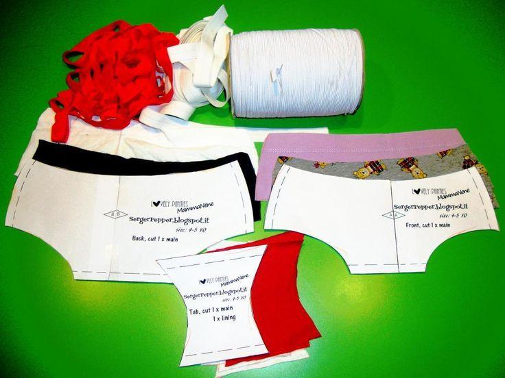 Free toddler underwear pattern - 3-4yo only