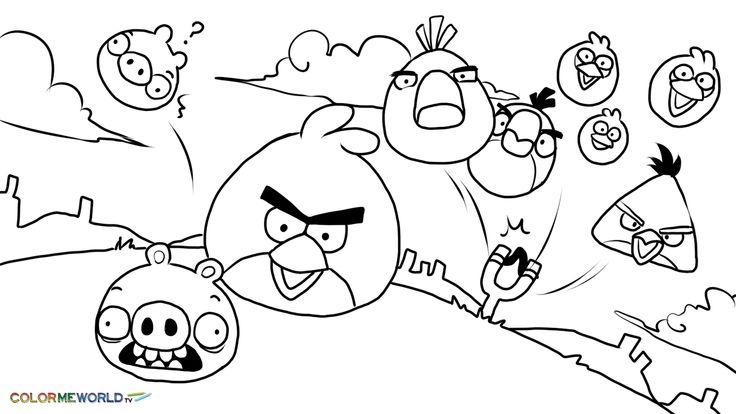 Angry Birds Coloring Pages Neo Coloring