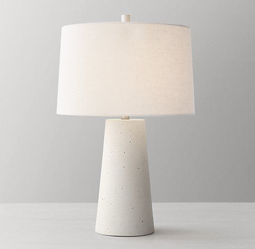 Lawton Table Lamp Base White Table Lamp Base Concrete Table Lamp Table Lamp White table lamp base