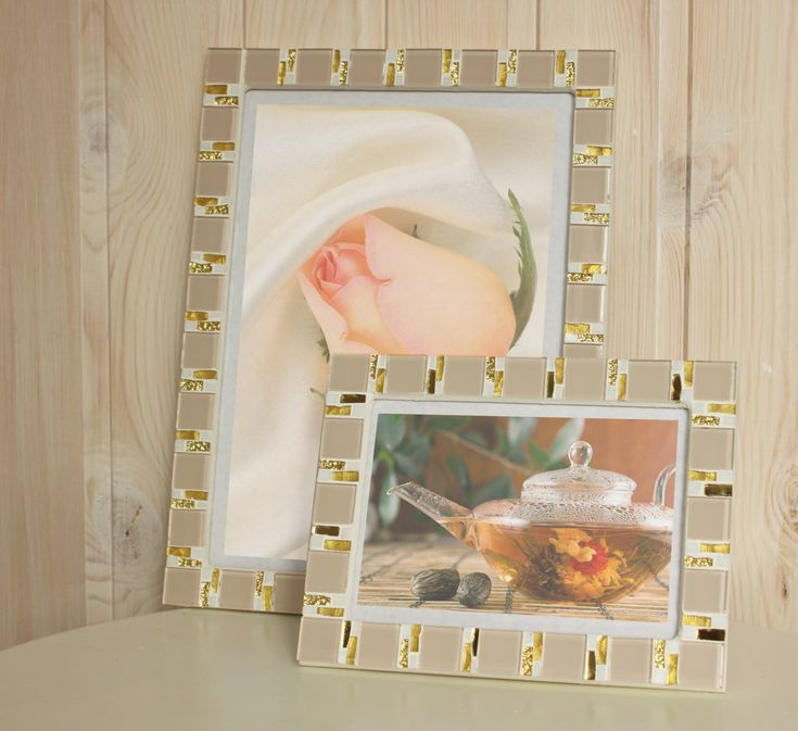 Beige frame set - 5x7 frame - 8x12 frame - Mosaic frame set ...