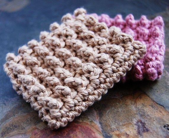 crocheted dish scrubbie