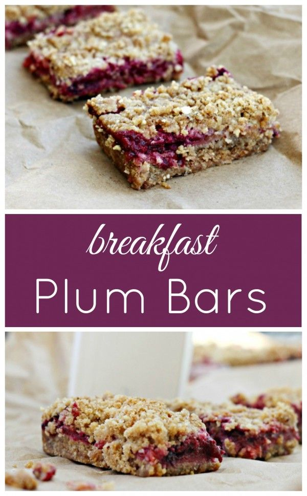 Plum Breakfast Bars for an easy breakfast on the go. ad
