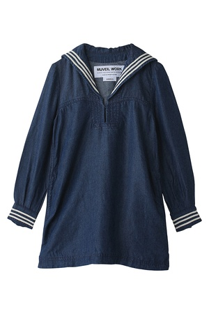 Muveil Kids - Denim sailor dress