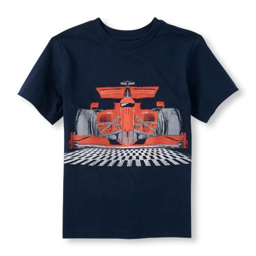 s Boys Short Sleeve Racecar Graphic Tee - Blue T-Shirt - The Children's Place