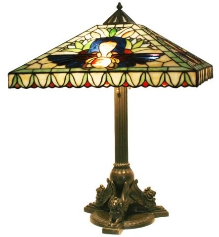 Duffner U0026 Kimberly Egyptian Leaded Table Lamp. Antique LampsVintage ...