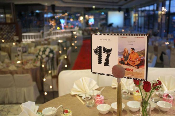 a vintage movie theme table | ... Mrs. Keir Blog: Our Themed Wedding - A Cinematic / Movie Theme wedding