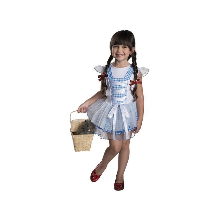 Wizard of Oz Dorothy Tutu Costume - Toddler, Girl's, Size: 2-4, White
